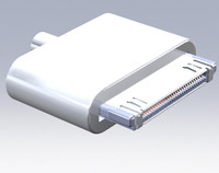 Free Apple 30 Pin Cable Connector in SolidWorks 2009 3D CAD Software