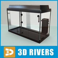 Black empty glass aquarium by 3DRivers