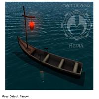 small canoe 3d model