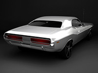 3d dodge challenger car model