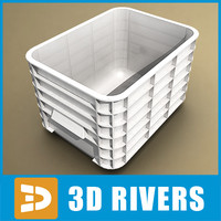 white plastic container 3d model