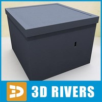 3d model box crates containers
