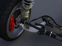 suspension mitsubishi evo x 3d model