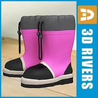 kids boots 3d model