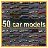 3d 50 vehicles renault cars