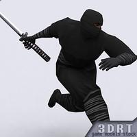 0 ninjas characters 1 3d model