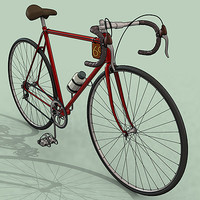 3d model racing bike chain