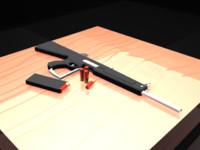 shotgun guns 3d model