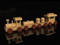 maya wooden toys train wood