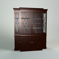 antique china cabinet obj