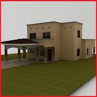 small Latin Hacienda Modern villa Santa Fe