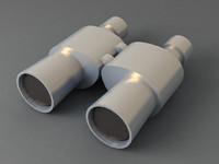 3d binoculars model