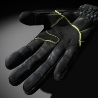 3d model army gloves