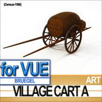 reconstruction village cart bruegel 3d model