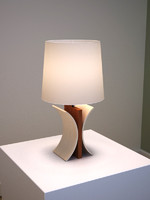 elegant wooden table lamp 3d model