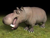 hippo potamus 3d model