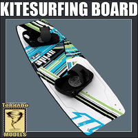 3d model of kitesurfing board