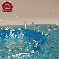 water drop v3 3d model