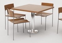cafe furniture set 01