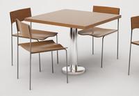 cafe furniture set 01