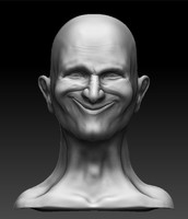 zbrush bust smiling head 3ds