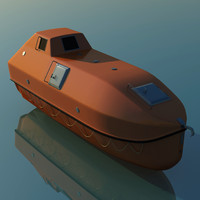 enclosed lifeboat 3d model