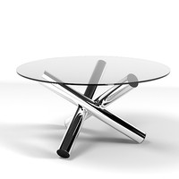 minotti van dyck table modern glass