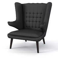 Papa bar chair armchair modern wing swan