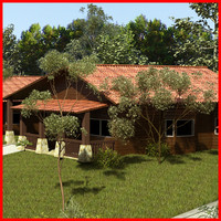 log cabin 3d x