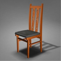 3d chair render model