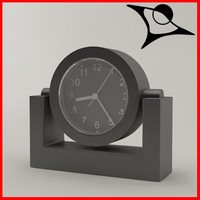 3d model of clock rendered