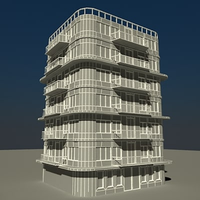 building 01 3d model - Building 01... by JS 3D