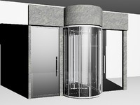 3d glass circular door