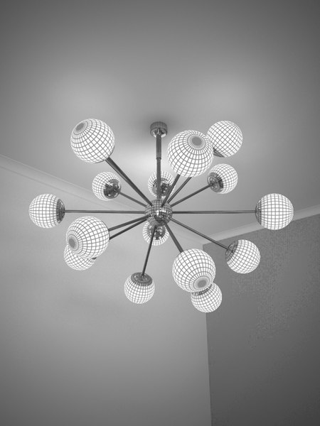 cool lighting pendant 3d model - Atomic pendant light... by Ben Williams