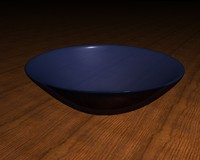 high-poly glass bowl 3d model