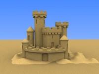 3d model sand castle