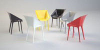 kartell dr yes chair 3d model