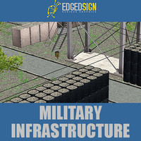 3d model military infrastructure