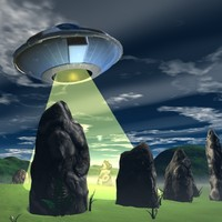 3d ancient stone circle ufo model