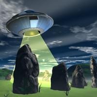 Stone Circle and UFO