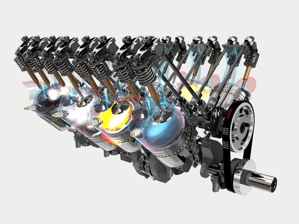 V8 Engine Animation v8 engine fully fx 3d ...