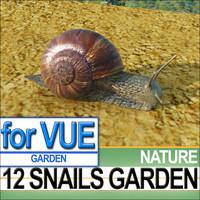 3ds max 12 snails garden