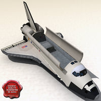 space shuttle v2 3d model