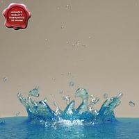 water drop v1 3d max