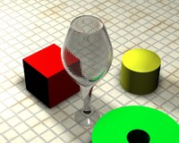 3d high-poly wine glass