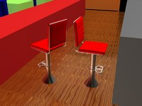 3ds max diner stool
