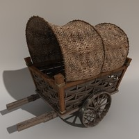 3d model of gothic cart