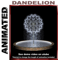 3d model fountain dandelion animation