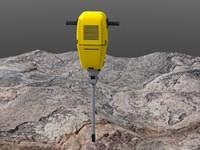 3dsmax drill roadwork rock