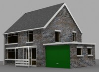 3d small domestic house model